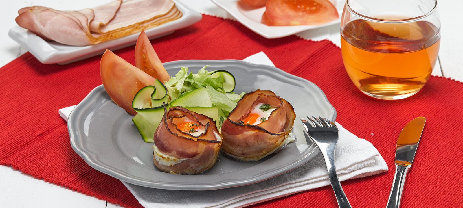Ninhos de Bacon e Ovo