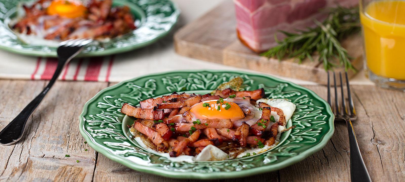 Hashbrowns com Bacon e Ovo